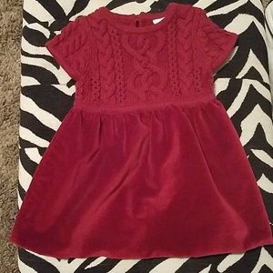 Hanna Andersson red velvet sweater dress size70